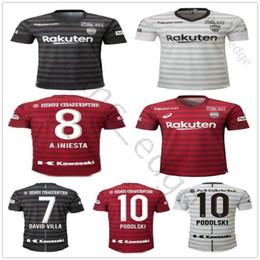Chalets jersey online-2019 2020 J league Vissel Kobe Camisetas de fútbol 8 A.INIESTA 7 DAVID VILLA MITA 10 PODOLSKI Personalizado Camiseta de fútbol de local lejos