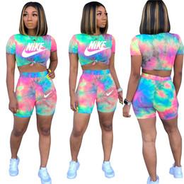 gambali bodysuits Sconti abbigliamento maglietta pantaloncini sportivo pullover leggings abiti maglietta tute di estate di marca Donna 2 pezzi tuta tuta palestra 955