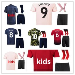 wool jerseys Promo Codes - Kids Manchester unit LUKAKU POGBA Home Away 3rd Soccer Jerseys 18 19 20 ALEXIS MARTIAL RASHFORD MATA LINGARD Football shirt Jersey Plus