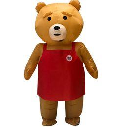2019 aufblasbarer bär Erwachsene Teddybär Aufblasbare Kostüm Tier Anime Männer Frauen Teddybär Maskottchen Halloween Kostüm Kostüm Anzug günstig aufblasbarer bär