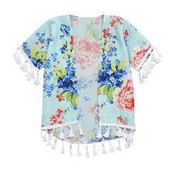 6abdf2a40faeec MomMe Baby Girls Flower Shawl Kimono Cardigan Tops Family Half sleeve  Polyester Flower Outfits Short Sleeve Cotton Cute Clothes