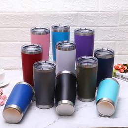 2019 capacidade da caneca de café 20 oz copo do esporte de metal boca larga garrafa de água de cerveja copos de aço inoxidável capacidade de viagem caneca de café ljja2577 capacidade da caneca de café barato
