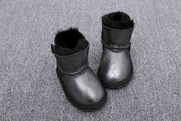 2019 U botas de inverno infantil fundo macio antiderrapante botas da criança recém-nascidos meninos e meninas neve Martin botas casuais tênis de