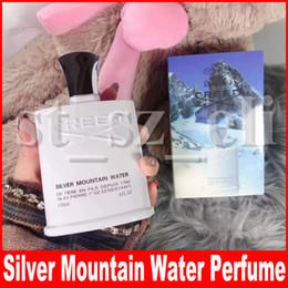 muito bonito Desconto Creed Silver Mountain Water fragrâncias para homens perfumes perfumes de longa duração saúde fragrância desodorizante spray Incenso 120 ml