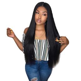 Perruque noire rihanna en Ligne-13x4 avant de lacet perruques pré cueillies avec des cheveux de bébé brésiliens de soie brésilienne droite avant de lacet perruques pour les femmes noires