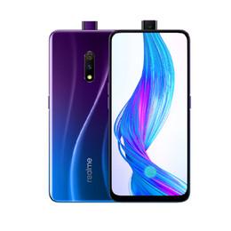 k1 téléphones cellulaires Promotion Cellule d'origine Realme X 4G LTE Téléphone 4 Go de RAM 64GB ROM Snapdragon 710 Octa base Android 6,53 pouces Plein écran 48MP ID d'empreinte Téléphone mobile