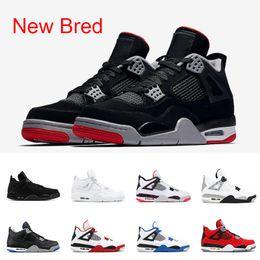 e5aa7d42c1e 2019 cemento negro retro Nike air jordan retro 2019 Bred 4 zapatos de  baloncesto para hombre