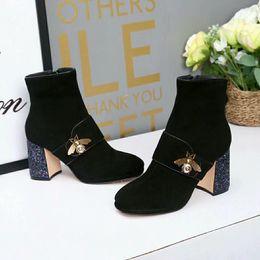 2018 nuovi classici stivali da donna di lusso di lusso firmati stivaletti stivali di lana scatola di imballaggio originale specifiche del sacchetto per la polvere Piccola ape da