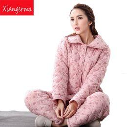 a3ce704652a5 Xiangerma Hot Women Autumn Winter Women Thickening Cotton Pajamas Bathrobe  Long Sleece Warm Sleepwear Lovers Bath Robes sexy winter pajamas for sale