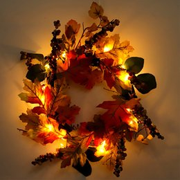 Décorations de thanksgiving en Ligne-40 cm Parti Mur Ornement Festival Décoration Guirlande Baies Rond Simulation Chritmas Ménage Thanksgiving Jour Canne