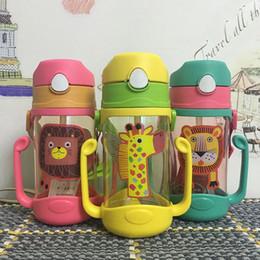 2019 bottiglia di acqua di paglia bpa libera Bambini ecologici che bevono bottiglie di acqua del fumetto BPA libero Paglia di plastica Bottiglia di bambini Bollitore per bambini Bottiglia di sport portatile bottiglia di acqua di paglia bpa libera economici