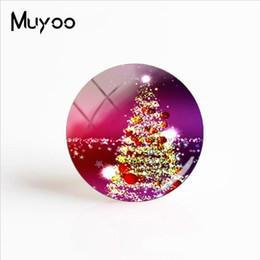 albero di natale cabochon Sconti 2019 Nuovi alberi di Natale per arte Foto gioielli Cupola in vetro Cabochon Foto Accessori artigianali regalo di Natale tondo a mano