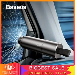 safety knives Coupons - Baseus Mini Car Window Glass Breaker Seat Belt Cutter Safety Hammer Life-Saving Escape Hammer Cutting Knife Interior Accessories