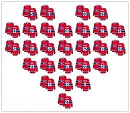 26d2c2e6b Canadiens de Montréal maillots de hockey 92 Jonathan Drouin 54 Charles  Hudon 83 Ales Hemsky 32 Mark Streit 21 chandail David Schlemko hommes jeunes