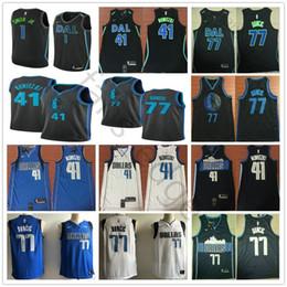 2019 City Dallas  77 Luka Jersey Home Away Blue White 41 Dirk Doncic  Nowitzki 1 Dennis Mavericks Smith Stitched Basketball Jerseys 4e35a3a28