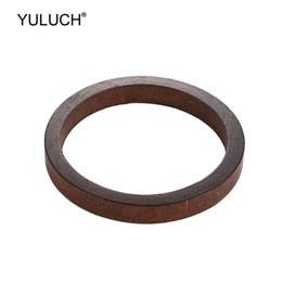 pulseiras de madeira da forma Desconto YULUCH 2019 Moda Pop Grande Marrom Pulseiras Acessórios de Jóias Para As Mulheres Lady Partido Étnico Africano Círculo Redondo Pulseiras De Madeira