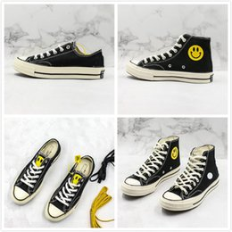 Ciudad del zapato online-Hot China Town Market x Convas Chuck Smile Designer Cute Smiling Face Zapatillas de lona Hombres Mujeres Moda Street Casual Shoes