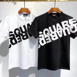 2019 camicia di stampa dell'ancora di bianco dell'uomo DSQUARED2 D2 DSQUARED 2 DSQ 20ss icona di stampa Italia Designers maglietta degli uomini Shirts Streetwear Mens Women Shorts T-shirt Harajuku Tops Breve Tee Abbigliamento WMDT537
