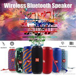 Bluetooth haut-parleur étanche radio en Ligne-Haut-parleur portable Sans fil Bluetooth Haut-parleurs TG117 Barre de son Sports de plein air Étanche Support TF Carte FM Radio Aux Entrée VS TG113