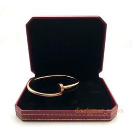 Canada 316L Titane acier argent or rose bracelet ongles punk amoureux bracelet Couple Bijoux avec coffret original pour femmes et hommes Offre