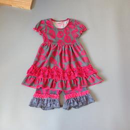 vestidos de rosa vermelha para crianças Desconto Cinza, rosa vermelha, vestido de meninas de lótus Roupas Crianças e Crianças vestidos macio Ruffle flor vestidos para crianças crianças boutique de roupas