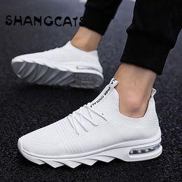 Weiß Schuhe Männer Mann zapatillas Männer hombre Marken Sommer der Art Exklusive Herren der 2019 Turnschuhe Schuhe beiläufigen beiläufige Schuh Socken N08Oynwvm