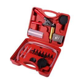 16 unidades / pacote Ferramenta de Mão da Bomba de Vácuo Pistola de Vácuo Kit Testador de Bomba de Pistola de Freio Sangrador Ferramenta de Teste de Mudança de Óleo Kit Conjuntos De Líquido De Freio Sangrador de Fornecedores de prateleira para ferramentas de garagem