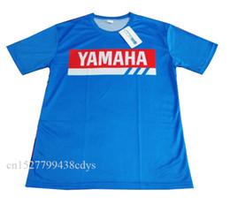 Maglia blu motocross online-Colore Blu Cross country Motocross Jersey Downhil Mountain Bike DH Shirt MX Abbigliamento moto Ropa FIT Per yamaha T shirt