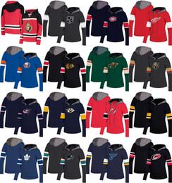 Roter teufel hoodie online-Womens Hockey Jersey Hoodie NY Islanders New Jersey Devils Toronto Maple Leafs Los Angeles Könige Detroit Red Wings Montreal Canadiens