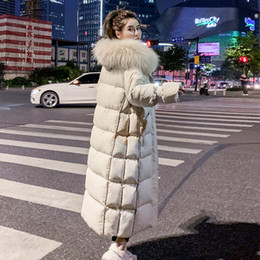 Japão mulheres vestidos on-line-Jacket Mulheres Brasão Mulheres Parka Plus Size Brasão Longo Inverno Vestido feminino coreano JAPAN keeep WARM