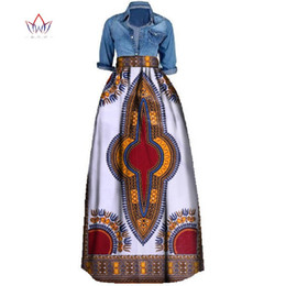 ropa tradicional africana Rebajas Nueva impresión africana falda de verano para las mujeres más el tamaño Dashiki ropa tradicional africana vestido de bola faldas ocasionales Wy106 J190619
