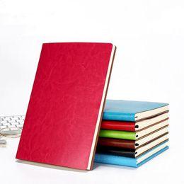 Escrita Jornal Notebook PU couro colorido Revistas diário Notepad Diário bonito Revista Cadernos de Viagem para estudantes A5 Tamanho de