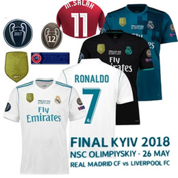90d926ba4ed 2017 2018 Champions League Finals Soccer Jersey 17 18 Real Madrid home away  3rd mane Bale Soccer Jerseys for 26 May ISCO Football uniform