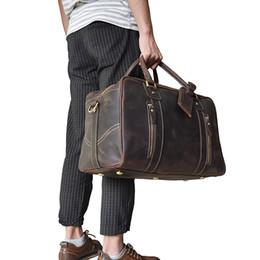 Canada Luufan En Cuir Hommes Sac De Voyage En Cuir Véritable Voyage Duffle Grande Capacité Sac À Main Valise Sac À Bagages Hommes Sacs À Bandoulière Offre
