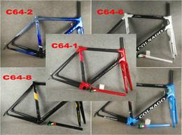 52cm fahrradrahmen online-Colnago C64 Carbon Rennrad Rahmen Carbon Fahrrad Matt glänzend Carbon Rennrad Rahmengröße 48cm 50mm 52cm 54cm 56cm