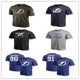 marinha camiseta Desconto Popular NHL Tampa Bay relâmpago camisetas 2019 camisola de hóquei camisas baratos saudação relâmpago ao serviço Camuflagem homens camisas azul marinho