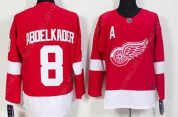54c746678 abdelkader jersey NZ - Custom JUSTIN ABDELKADER MENS RED JERSEYS NEW  DETROIT RED WINGS Stitch personality