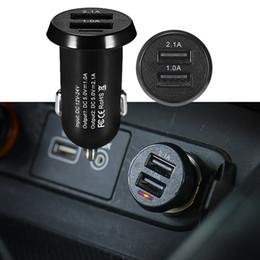 adattatore auto usb auto 12v Sconti adattatore dual doppia porta USB 1PC mini caricatore dell'automobile 12V 5V caricatore per auto 2.1A sigaretta accessori più leggeri