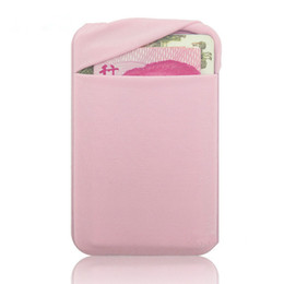 Blackberry stickers online-Elastische Tuch Brieftasche Kredit ID Karte Bargeld Inhaber 3 Mt Gadget Tasche Pouch-auf Handy Tasche Aufkleber Handy