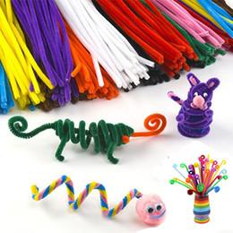 enfants d'artisanat d'art Promotion 10pcs / set jouets éducatifs pour enfants à la main en peluche bâton Shilly-Stick Art DIY et Artisanat matériaux cadeau