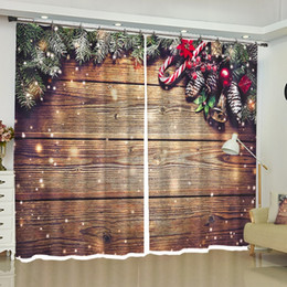 2019 sfondo di tessuto di natale Tende natalizie Tende oscuranti per finestre personalizzate per camera da letto Soggiorno Cucina Ufficio Decorazioni per la casa Tessuto sfondo di tessuto di natale economici