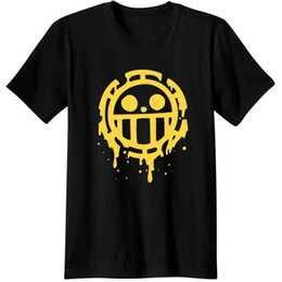 anime abbigliamento Sconti Heart Pirates Trafalgar Law One Piece Anime Abbigliamento casual Top Tees T Shirt