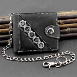 Cowboys brieftasche online-Halter Brieftaschen Biker Cowboy Mens Casual Snap Jeans Brieftasche Mit Anti Lose Pants Chain Wallets
