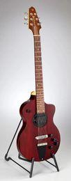 Guitarras rick on-line-Rick Turner Modelo 1-C-LB Lindsey Buckingham Borgonha Vinho Vermelho Semi Oco Guitarra Elétrica Corpo Preto Vinculativo, 5 Pcs laminado Bege Pescoço
