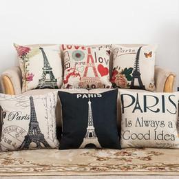 Vintage Paris tour eiffel oreiller housse de coussin taie d'oreiller décoration de la maison chaise décoration pour la décoration canapé taie d'oreiller WX9-1284 ? partir de fabricateur