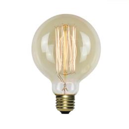Lámpara de tungsteno e27 online-G95 E27 Socket 220V ~ 240V 40W Lámpara Alambre de tungsteno Edison Classic Bulb Edison Bulbs Incandescente Tornillo Bombillas de filamento para lámpara colgante de luz