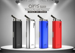 Interruptor de óleo on-line-Airis Switch Vaporizador Starter Kits 2200 mAh Lipo 3 em 1 Cera Herbal Óleo Grosso Concentrado Vape Canetas Kit 100% Original Airistech Airis Herborn