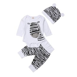 97e2b4f90699 Emmababy 2Pcs Clothes Set!! Newborn Baby Girl Boy Zebra Tops Romper Pants  Outfits Sets Clothes 0-6M