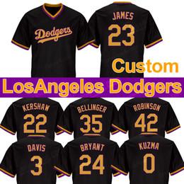 camiseta de baloncesto 4xl Rebajas 2019 Los Ángeles Dodgers Jersey Bellinger Robinson Kershaw 23 James Davis 3 0 24 Kuzma Bryant Baloncesto Jugadores edición conjunta de los jerseys