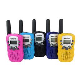 Mini-walkie-talkie zwei-wege-radio online-Ein Paar Retevis RT-388 Mini Walkie Talkie Kinder Radio 0.5W 8 / 22CH LCD-Display Amateurfunkfunkgerät Talkly Children Transceiver 2019